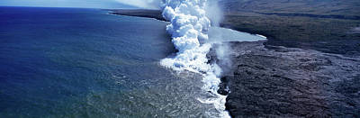 Steam Rising Off Lava Flowing Poster by Panoramic Images