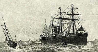 Steam Ship Ormuz Australia To England 1887 Eleven Thousend Poster by Australian School