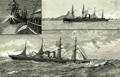 Steam Ship Ormuz Australia To England 1887 On The Voyage Poster by Australian School