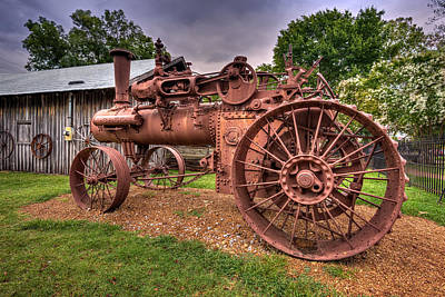 Steam Tractor Poster by Brett Engle