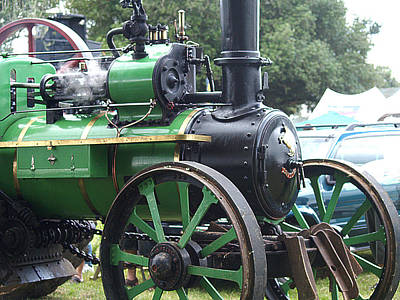 Steam Tractor Lives On Poster