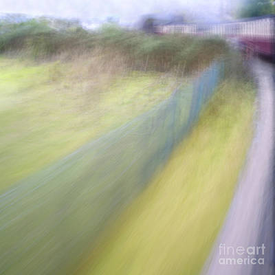 Steam Train Abstract Poster by Natalie Kinnear