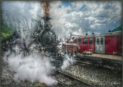 Steam Train Poster by Hanny Heim