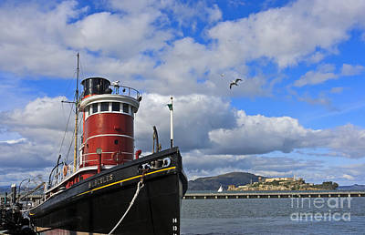 Poster featuring the photograph Steam Tug Hercules by Kate Brown