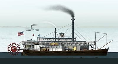 Steamboat, Artwork Poster