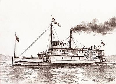 Steamboat Idaho Sepia  Poster
