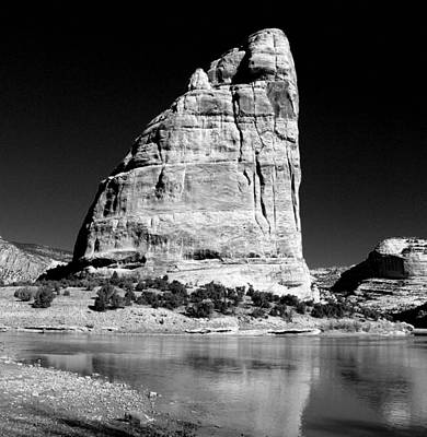 Steamboat Rock Black And White Three Poster by Joshua House