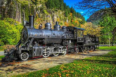 Steaming Through Fall Poster by Spencer McDonald