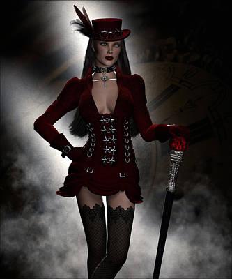 Steampunk Fashion Poster by Suzanne Amberson
