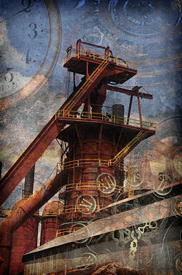 Steampunk Iron Mill Poster