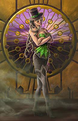 Steampunk Medusa Poster