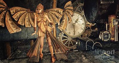 Steampunk Meeting Point Poster by Jutta Maria Pusl