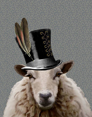 Steampunk Sheep Poster by Kelly McLaughlan
