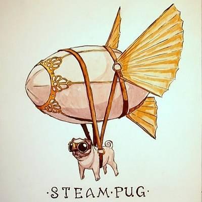 #steampunk Poster by Willem Van Zyl