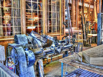 Steampunk Woodshop Hdr Poster