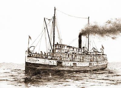 Steamship Bellingham Sepia Poster