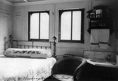 Steamship Cabin, C1900 Poster