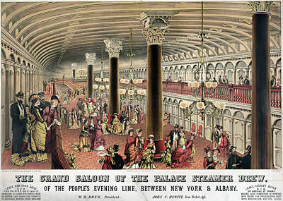 Steamship: Saloon, C1878 Poster by Granger