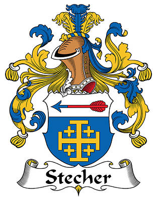 Stecher Coat Of Arms German Poster by Heraldry
