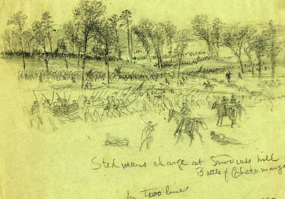 Steedmans Charge At Snodgrass Hill, Battle Of Chickamauga Poster by Quint Lox
