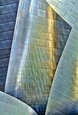 Steel Colors At Disney Concert Hall Poster by Robert Jensen