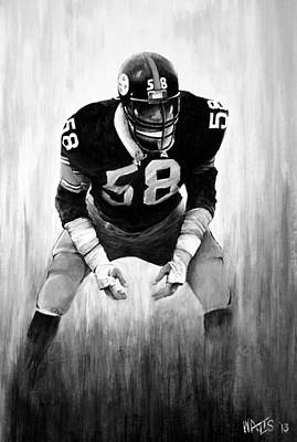 Steel Curtain In Black And White Poster