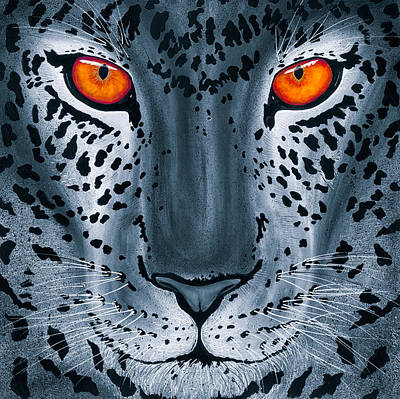 Poster featuring the painting Steel Leopard by Dede Koll