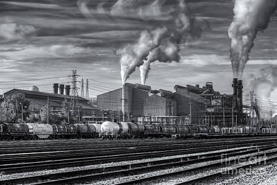Steel Mill And Freight Yard Iv Poster by Clarence Holmes