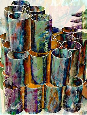 Steel Pipes Poster by Lilliana Mendez