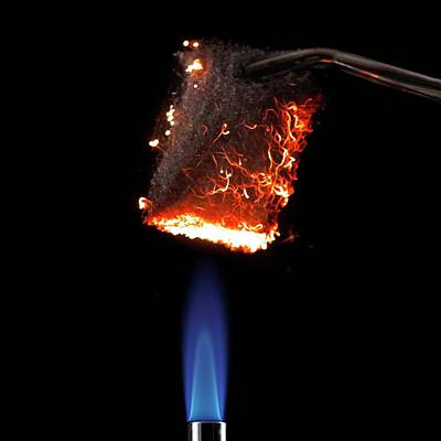 Steel Wool Burning In Air Poster