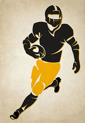 Steelers Shadow Player Poster