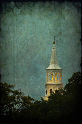 Steeple In A Storm Poster