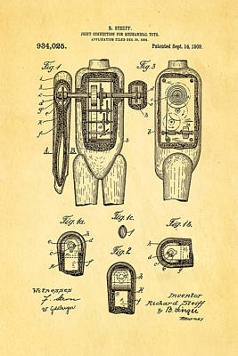 Steiff Bear Toy Patent Art 1909  Poster