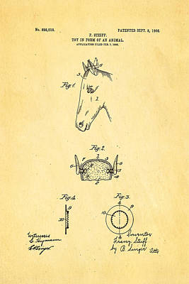 Steiff Horse Toy Patent Art 1908 Poster by Ian Monk