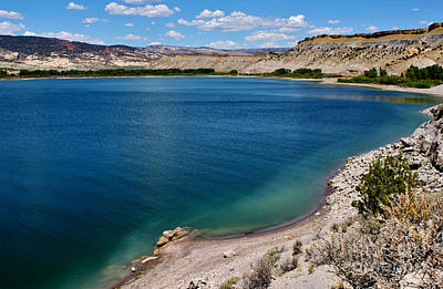 Poster featuring the photograph Steinacker Reservoir Utah by Janice Rae Pariza