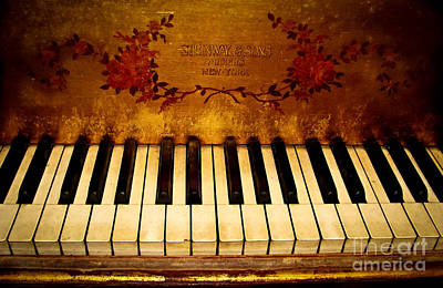 Steinway Golden Grand  Poster by Colleen Kammerer