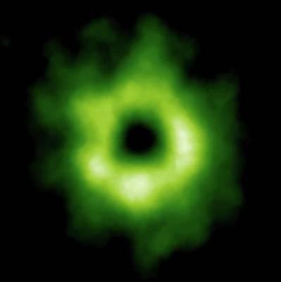 Stellar Carbon Monoxide Poster by Alma (eso/naoj/nrao)
