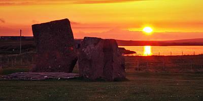Stenness Sunset 2 Poster by Steve Watson