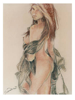 Standing Nude 1 Poster by Sciandra