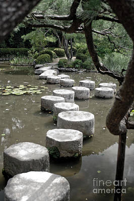 Stepping Stone Kyoto Japan Poster