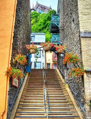 Steps Of Old Quebec Poster