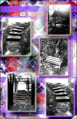 Steps Single Purplered Poster by Daniels Aesthetics