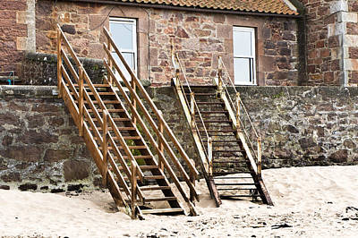 Steps To Beach Poster by Tom Gowanlock