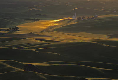 Steptoe Butte Sunset Poster