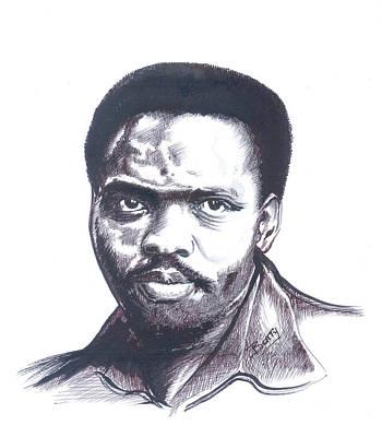 Steve Biko 02 Poster by Emmanuel Baliyanga
