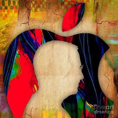 Steve Jobs Art Poster by Marvin Blaine
