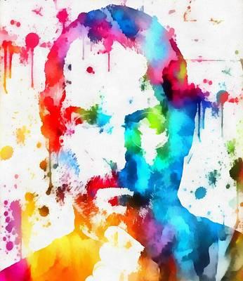 Steve Jobs Paint Splatter Poster by Dan Sproul