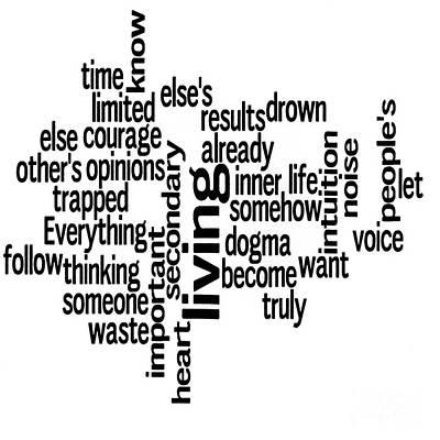 Steve Jobs Quotation Poster by David Bearden