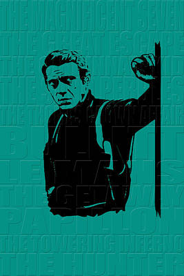 Steve Mcqueen Poster by Andrew Fare