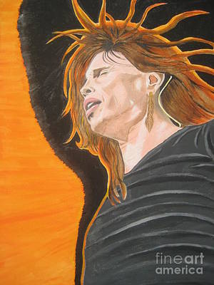 Poster featuring the painting Steven Tyler Art Painting by Jeepee Aero